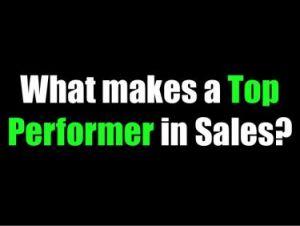 Top Producing Sales Performers