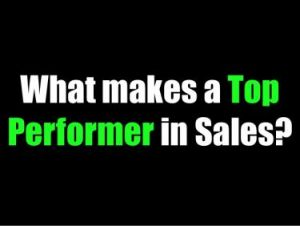 Top Producing Sales Performers